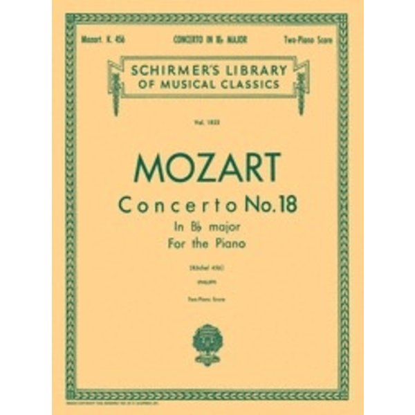 Schirmer Mozart - Concerto No. 18 in Bb, K.456