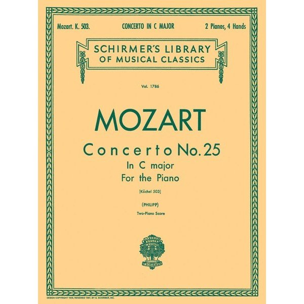 Schirmer Mozart - Concerto No. 25 in C, K.503