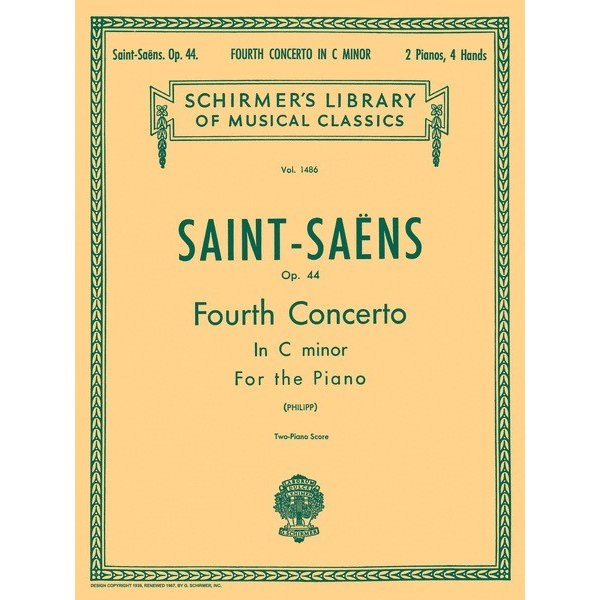 Schirmer Saint-Saëns - Concerto No. 4 in C Minor, Op. 44