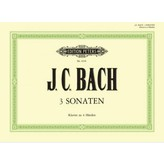 Edition Peters Bach - 3 Sonatas for Piano 4 Hands