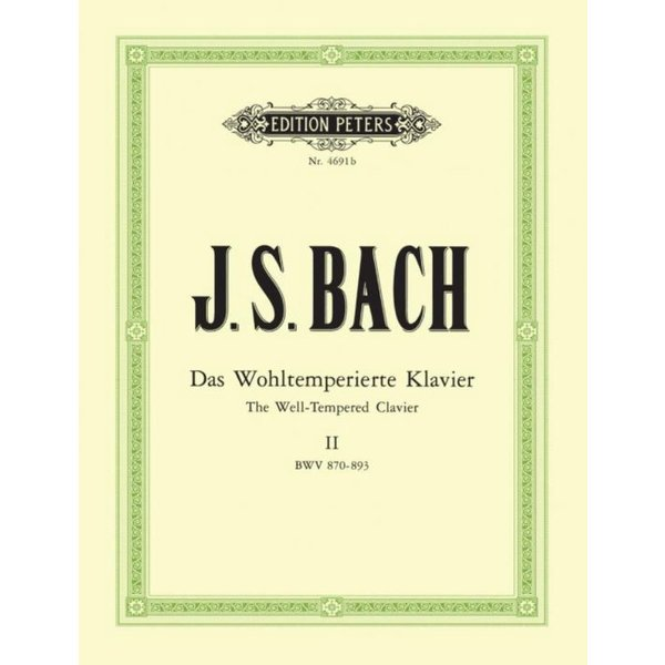 Edition Peters J.S. Bach - The Well-Tempered Clavier Part 2 BWV 870-893