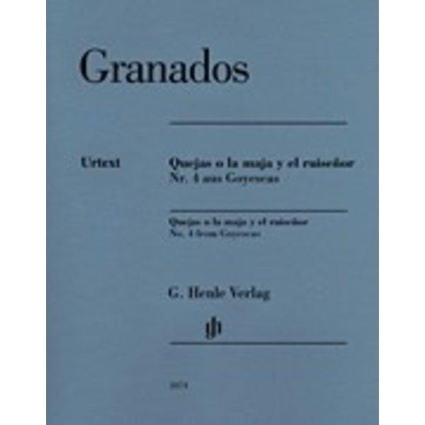 Henle Urtext Editions Granados - Quejas O La Maja Y El Ruisenor