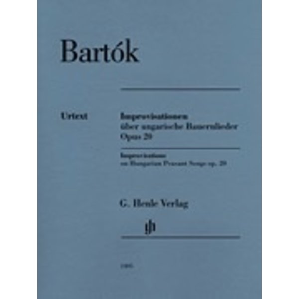 Henle Urtext Editions Bartok - Improvisations on Hungarian Peasant Songs