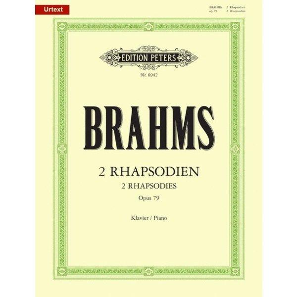 Edition Peters Brahms - 2 Rhapsodies Op.79
