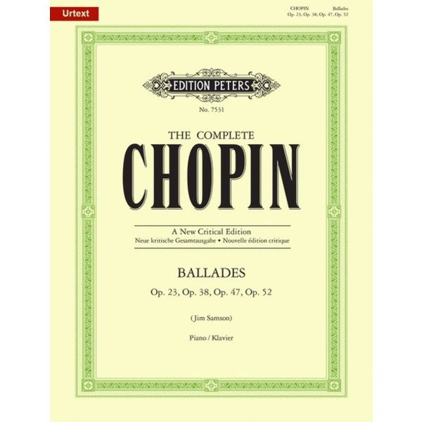 Edition Peters Chopin - Ballades