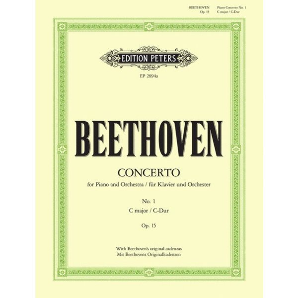 Edition Peters Beethoven - Concerto No. 1 in C Major Op. 15