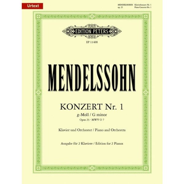Edition Peters Mendelssohn - Piano Concerto No. 1 in g minor Op. 25