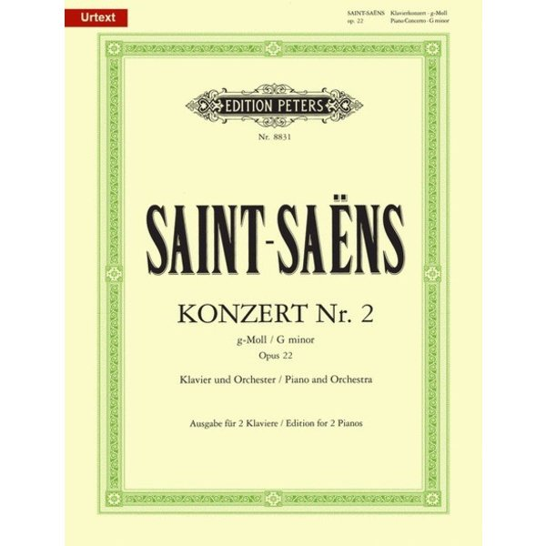 Edition Peters Saint-Saens - Concerto No. 2 in G Minor, Op. 22