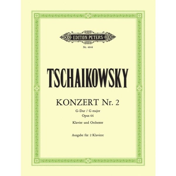 Edition Peters Tchaikovsky - Concerto No.2 in G Op.44
