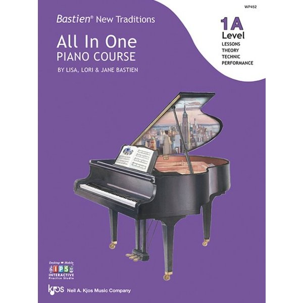Kjos Bastien New Traditions: All In One Piano Course - Level 1A