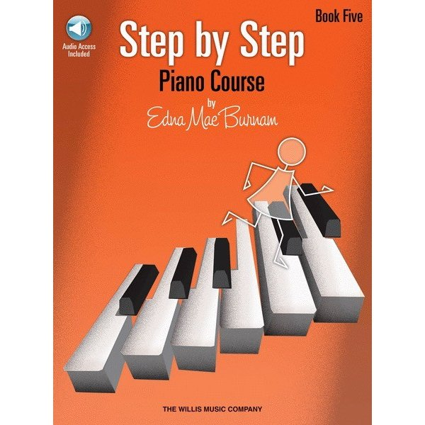 Willis Music Company Step by Step Piano Course – Book 5 (Bk/Audio)