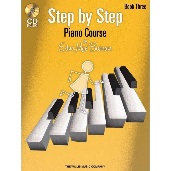 Willis Music Company Step by Step Piano Course – Book 3 with CD