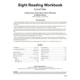 Schaum Sight Reading Workbook, Level One