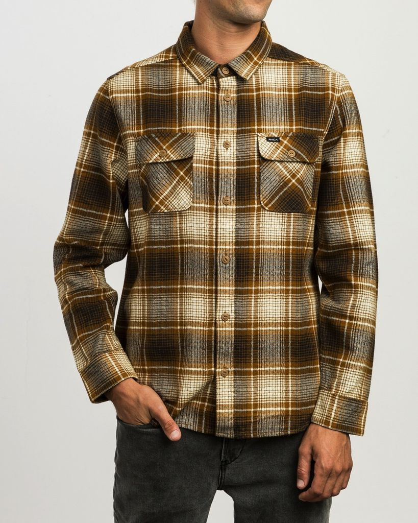 RVCA HIGH PLAINS PLAID FLANNEL