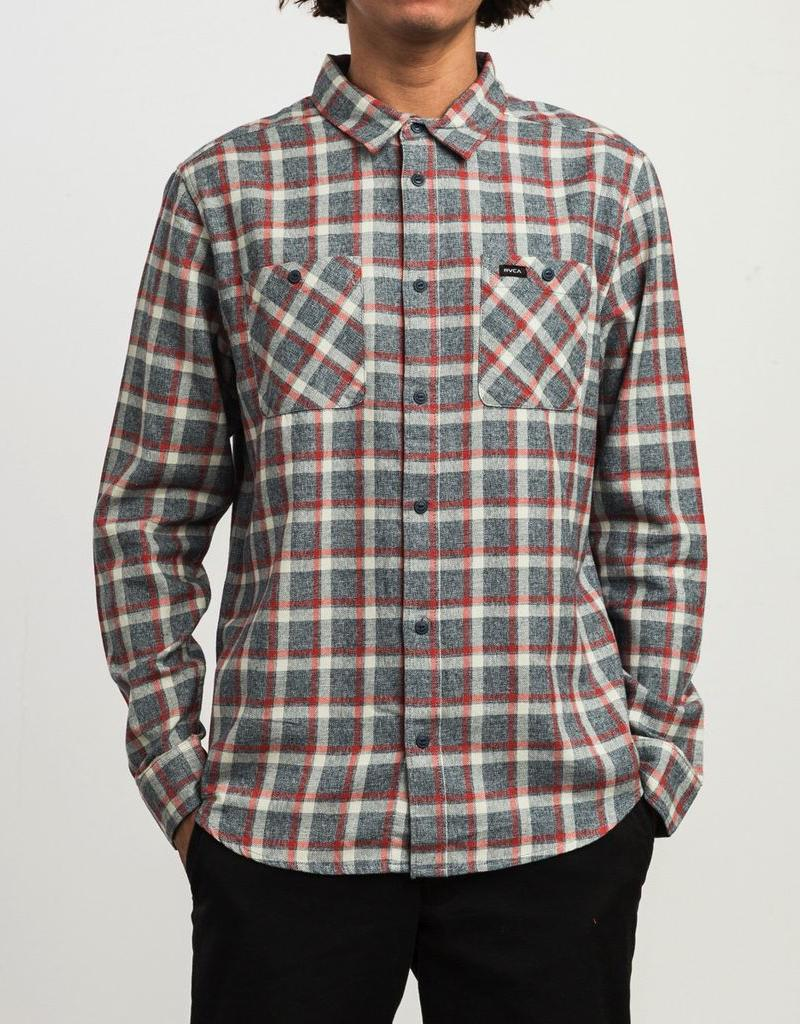 RVCA HERO PLAID BUTTON-UP SHIRT