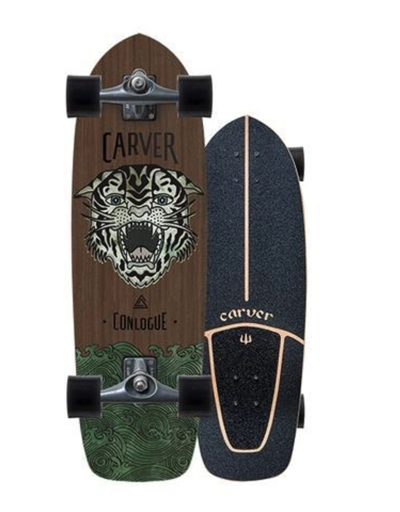 "CARVER SKATEBOARDS 29.5"" CONLOGUE SEA TIGER SURFSKATE COMPLETE"
