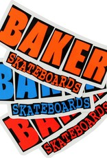 "BAKER BRAND LOGO COLOR DECAL ASSORTED 2.5""X5"""
