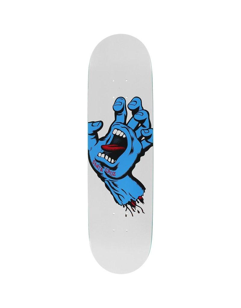 8.25in x 32.0in Screaming Hand Taper Tip Santa Cruz Skateboard Deck
