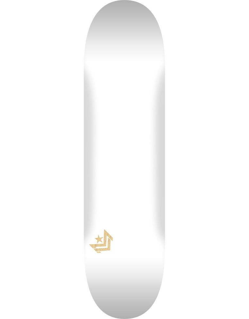 "MINI LOGO CHEVRON ""11"" SKATEBOARD DECK 242 WHITE - 8 X 31.45"