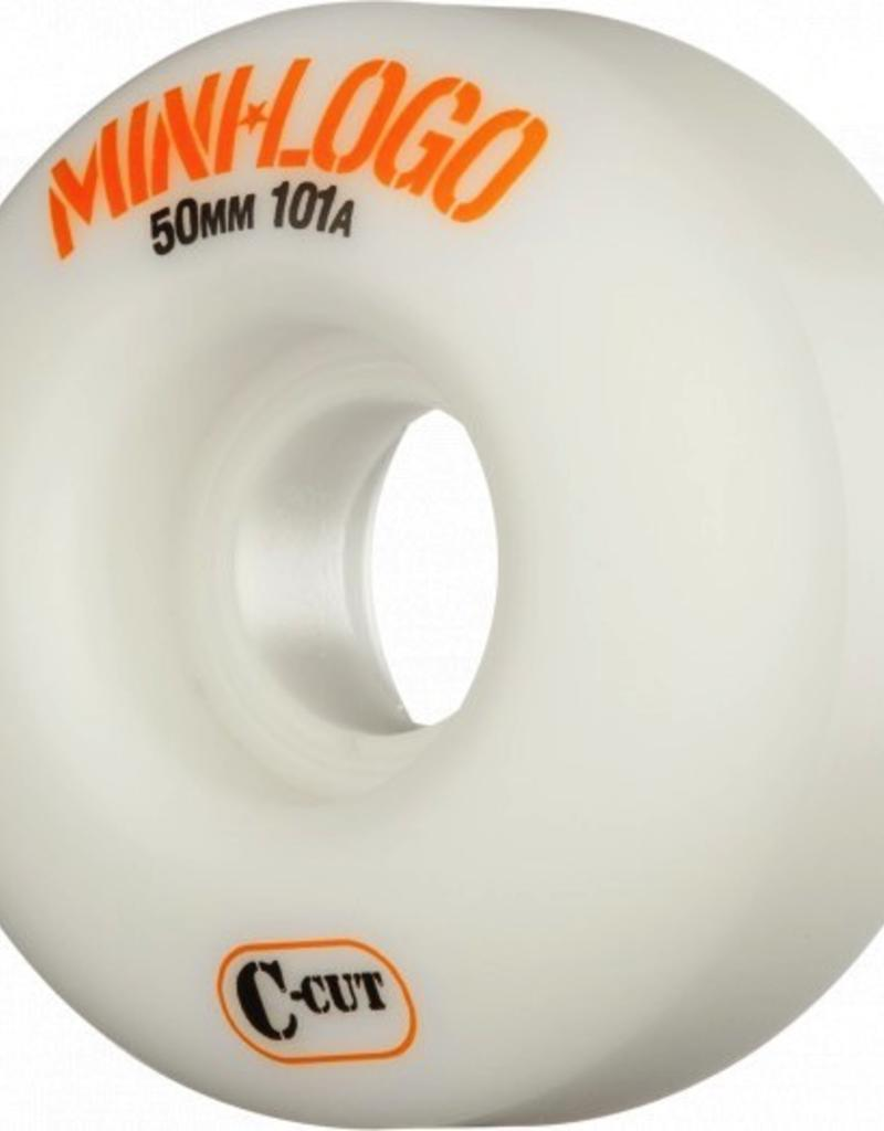 mini logo MINI LOGO SKATEBOARD WHEELS C-CUT 101A WHITE 4PK