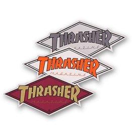 THRASHER DIAMOND DECAL Single Asst.Colors