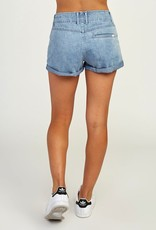 RVCA VALLEY LACE UP DENIM SHORT