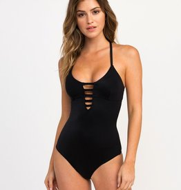 RVCA SOLID STRAPPY ONE PIECE SWIMSUIT