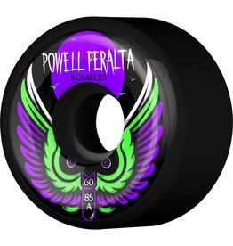 POWELL Powell Peralta Bomber 3 Skateboard Wheels Black 60mm 85a 4pk