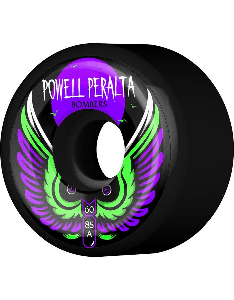 POWELL Powell Peralta Bomber 3 Skateboard Wheels Black 60mm 85a 4pk