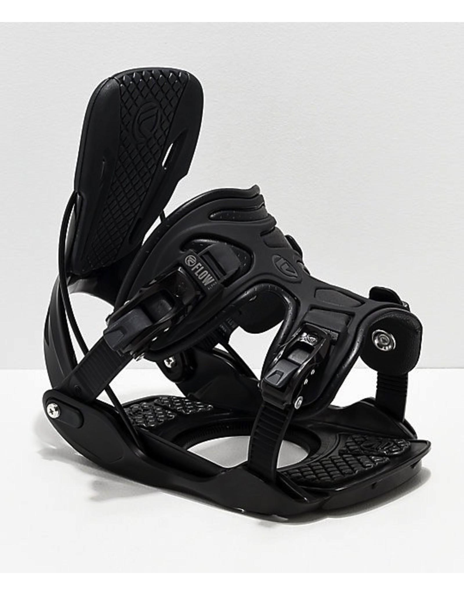 Flow Alpha Black Snowboard Binding 2019