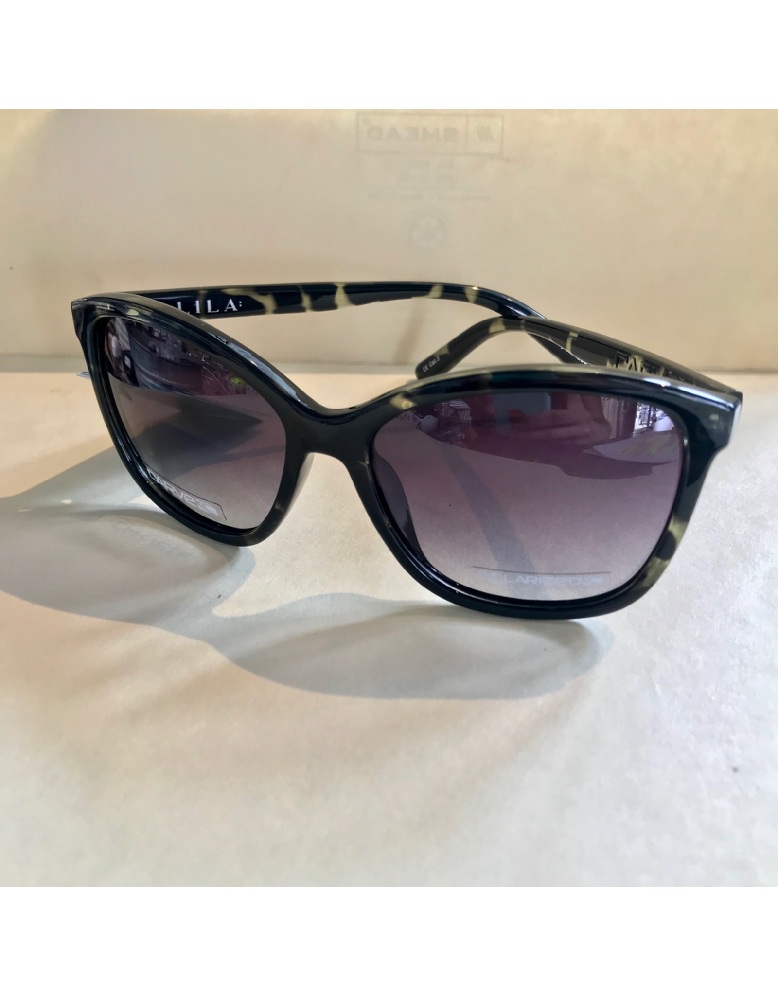 CARVE SUNGLASSES LILA POLARIZED GREY LENS - DARK BROWN TORTOISE