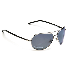 CARVE SUNGLASSES TOP DOG POLARIZED GREY LENS - SILVER BLACK