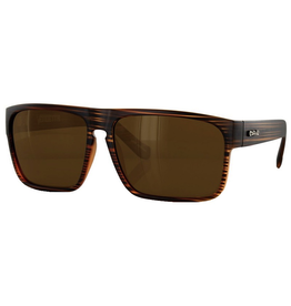 CARVE SUNGLASSES VENDETTA POLARIZED BROWN LENS - MATTE BROWN STRIPE