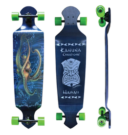 "KAHUNA CREATIONS SEEKER DROP DECK 43"" LONGBOARD COMPLETE"
