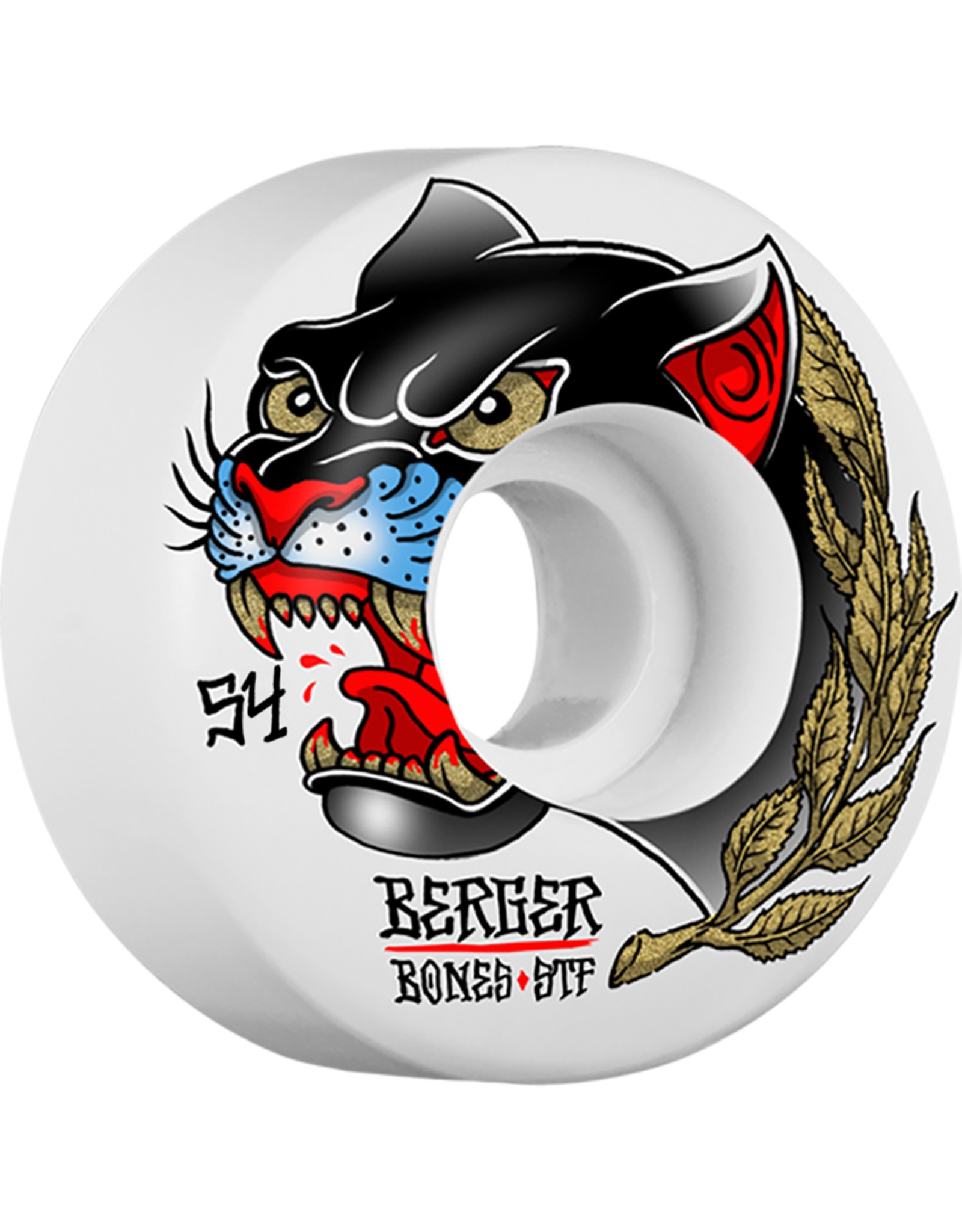 BONES BONES WHEELS STF Pro Berger Panther Skateboard Wheels Slims 54mm 4pk