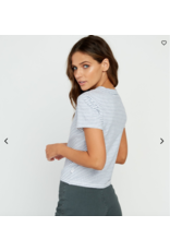 RVCA FADE OUT STRIPED BABY TEE