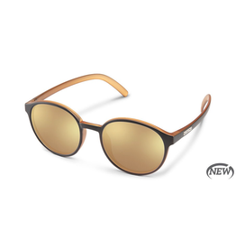 SUNCLOUD LOW KEY (SMALL-MEDIUM FIT) - BLACK HONEY PACKPAINT POLARIZED SIENNA MIRROR
