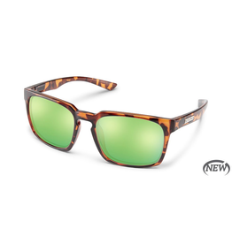 SUNCLOUD HUNDO (MEDIUM FIT) - TORTOISE POLARIZED GREEN MIRROR