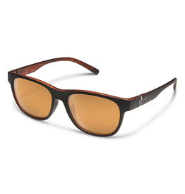 SUNCLOUD SCENE (SMALL FIT) - MATTE BLACK BACKPAINT/POLARIZED POLYCARBONATE COPPER MIRROR