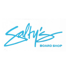 SALTY'S LOGO STICKERS SALTY'S LOGO AND TAGLINE STICKER- 5 INCHES