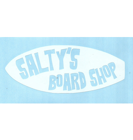 SALTY'S LOGO STICKERS SALTY'S SURFBOARD LOGO STICKER- 5 INCHES