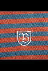 BRIXTON BRIXTON PABLO S/S KNIT (HENNA & BLUE)