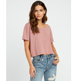RVCA HEADLINE CROPPED KNIT TOP