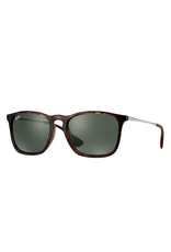 RAYBAN CHRIS - LIGHT HAVANA W/ GREEN CLASSIC