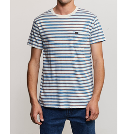 RVCA VINCENT STRIPE CREW KNIT SHIRT