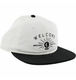 WELCOME SKATEBOARDS WELCOME DARK ENERGY HAT ADJ-WHT/BLK