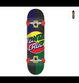"""santa cruz Santa Cruz Skateboards Dot Blocker Mini Complete Skateboard - 7.25"""" x 29.9"""""""