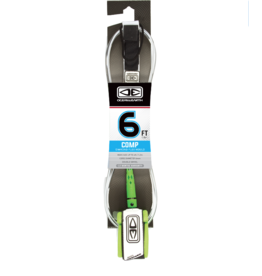 OCEAN & EARTH O&E MOULDED COMP LEASH 6' WHITE