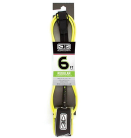 OCEAN & EARTH O&E MOULDED REGULAR LEASH 7' YELLOW