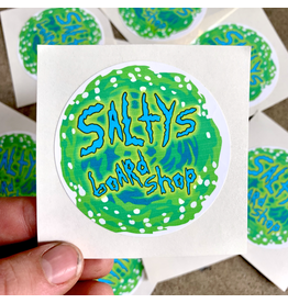 SALTY'S LOGO STICKERS RICK AND MORTY STYLE LOGO STICKER